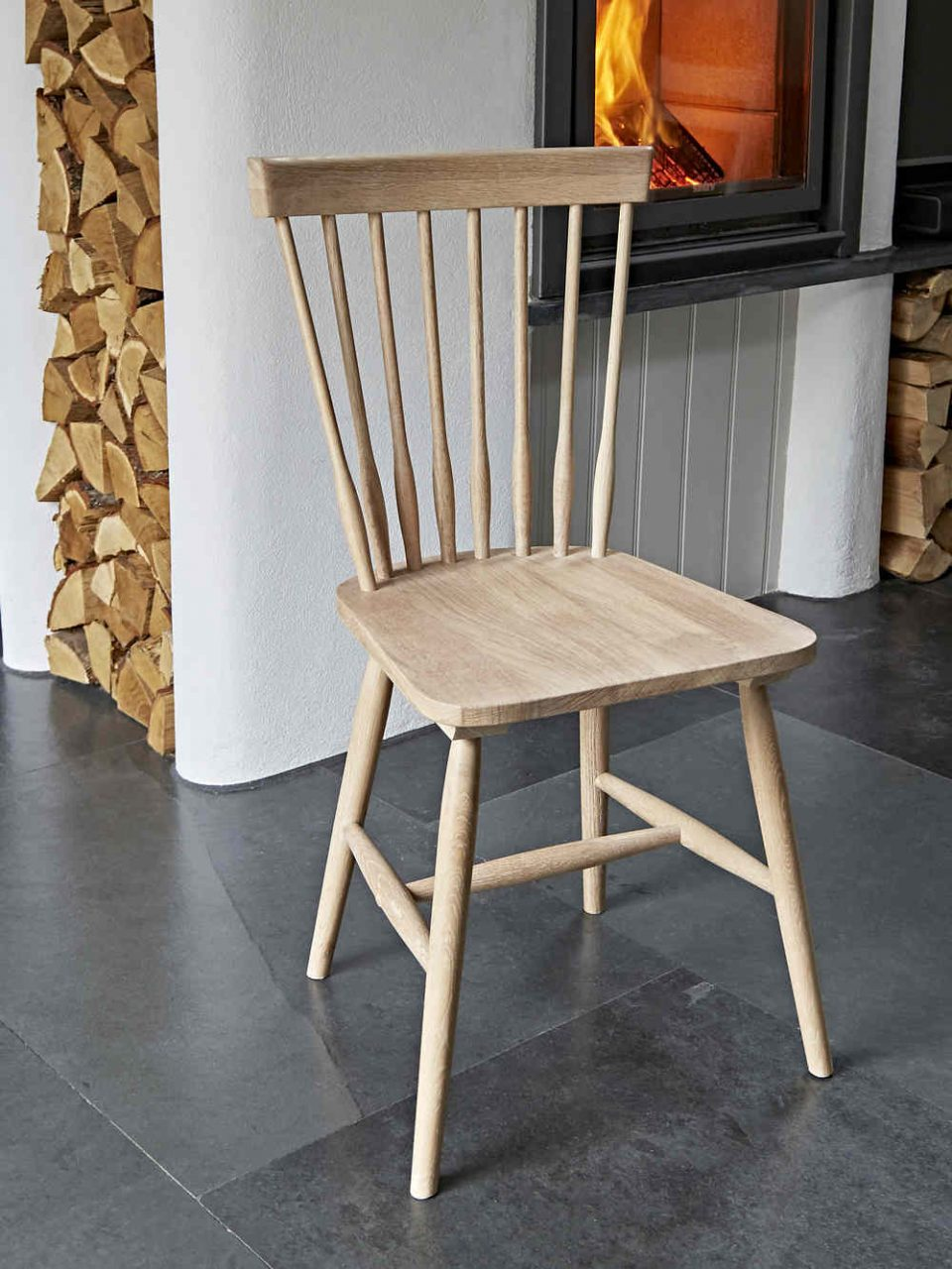 Oak Dining Chair Wooden Dining Chair Scandi Chair