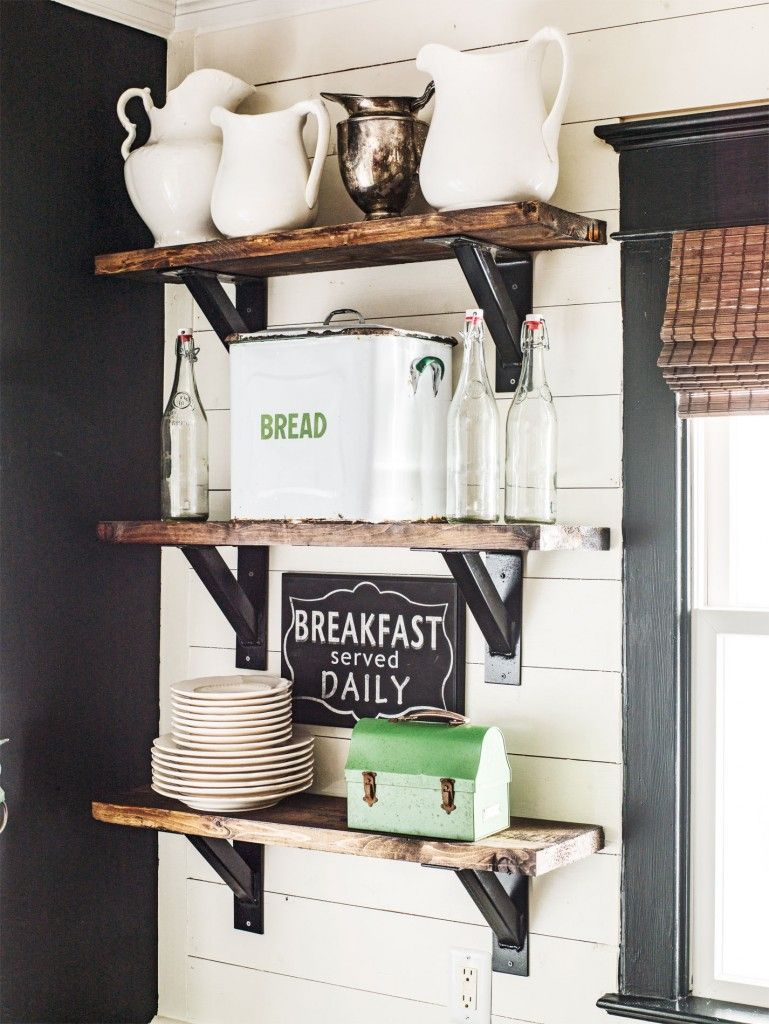 Open Kitchen Shelves Farmhouse Style Farmhouse Farmhouse Decor