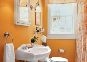 Orange Bathroom Paint Colors