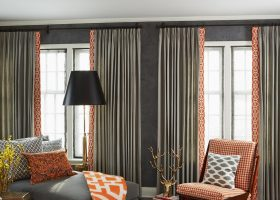 Orange and Gray Living Room Color Schemes
