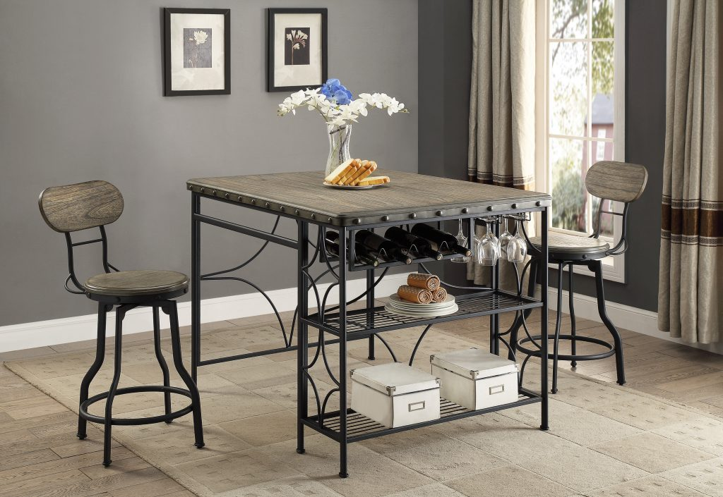 Os Home And Office Model 1773k Counter Height Craft Dining Table