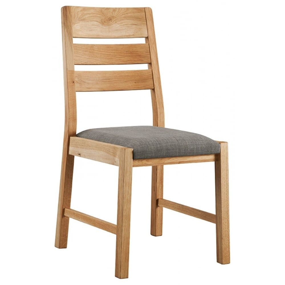 Oslo Oak Dining Chair Pair Dining Room Living Room Classic