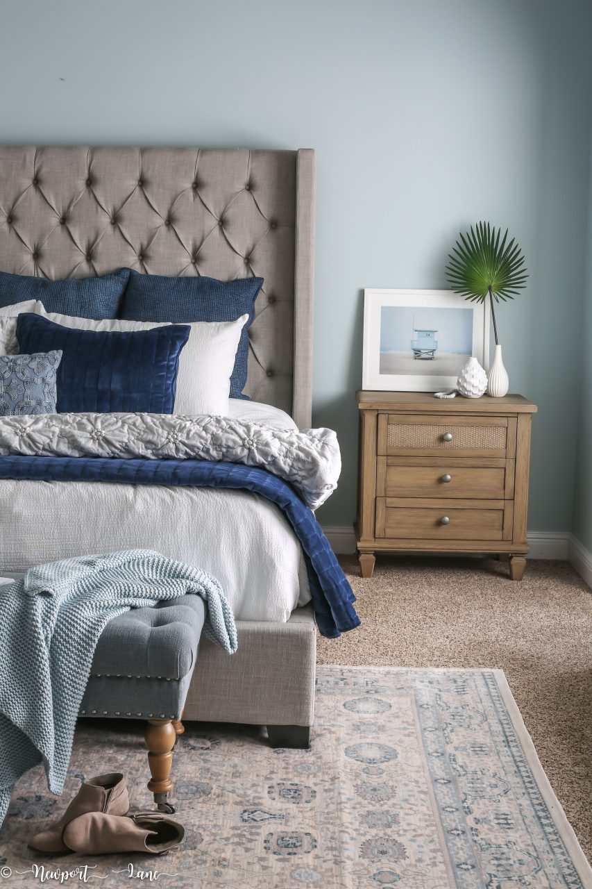 Our California Coastal Bedroom Makeover Is Full Of Soothing Blue And