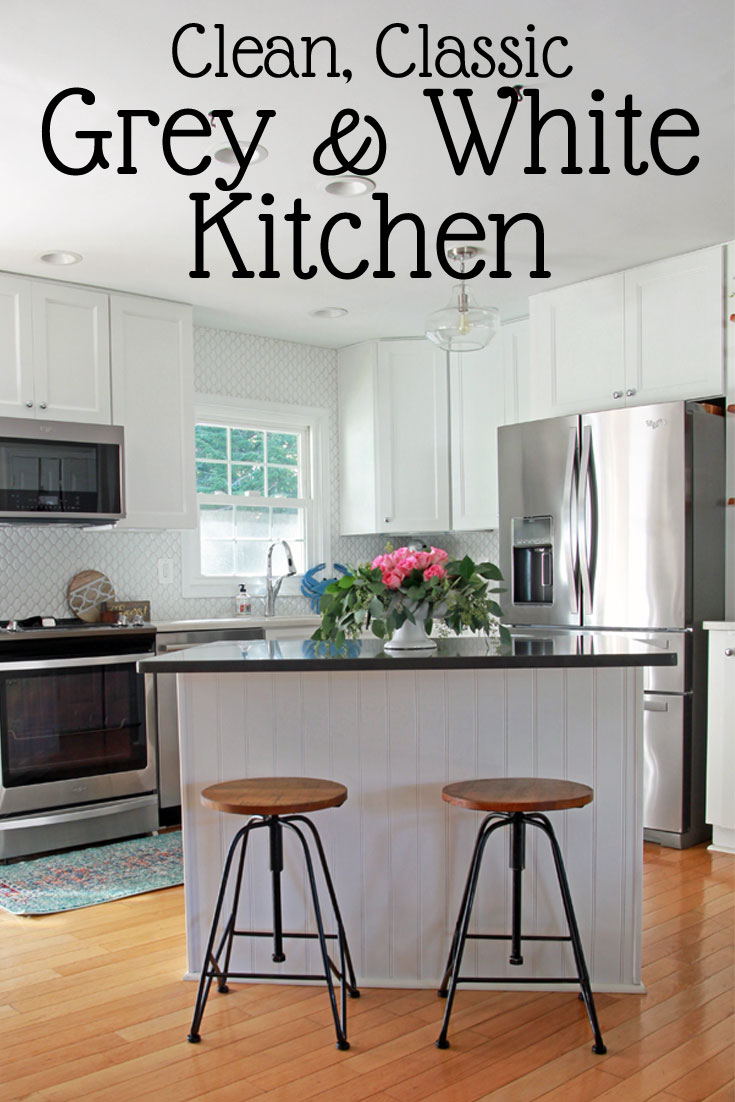 Our Small White Kitchen Clean And Classic