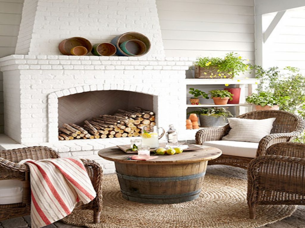 Outdoor Fireplace Table Outdoor Brick Fireplace White Worn Brick