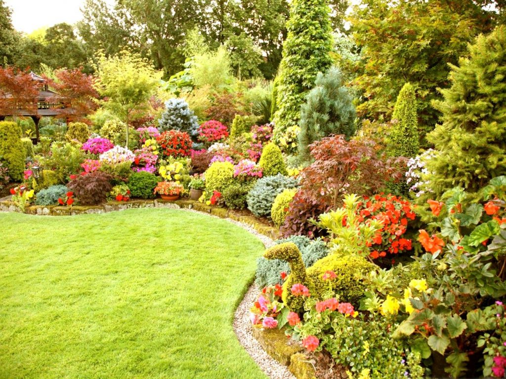 Outdoor Pleasant Flower Garden Layout Outdoor Ideas