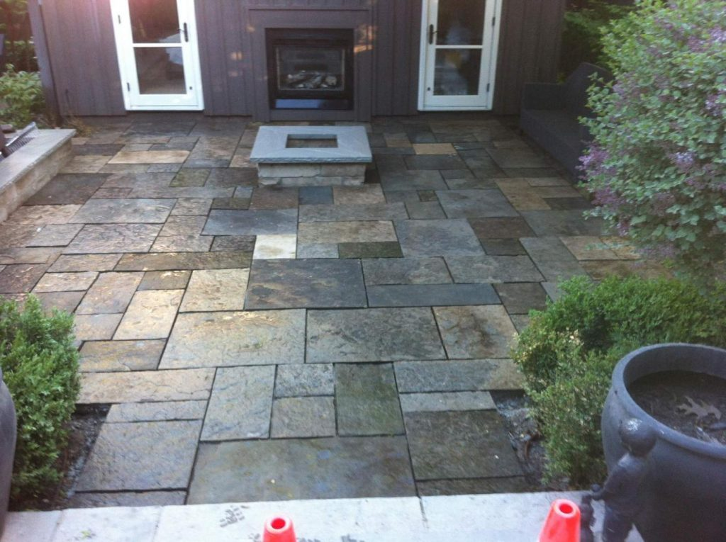 Owen Sound On Square Cut Natural Stone Patio Construction Gta