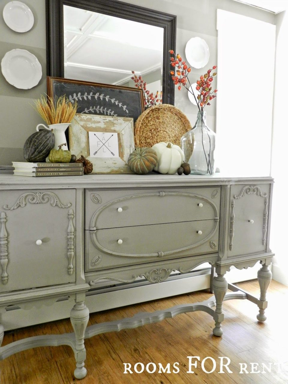 Painted Antique Buffet Reveal Rooms For Rent Decorating
