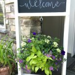 Painted Wooden Hanging Plant Stand With Chalkboard Datfeatablog