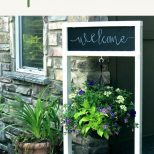 Painted Wooden Hanging Plant Stand With Chalkboard Diy Yard