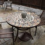 Patio Furniture Bistro Table Sets Mosaic Patio Table And Chairs Cute