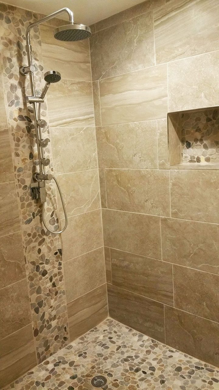 Pebble Stone Sliced Mixed Tile In 2019 Bathroom Remodel And Ideas