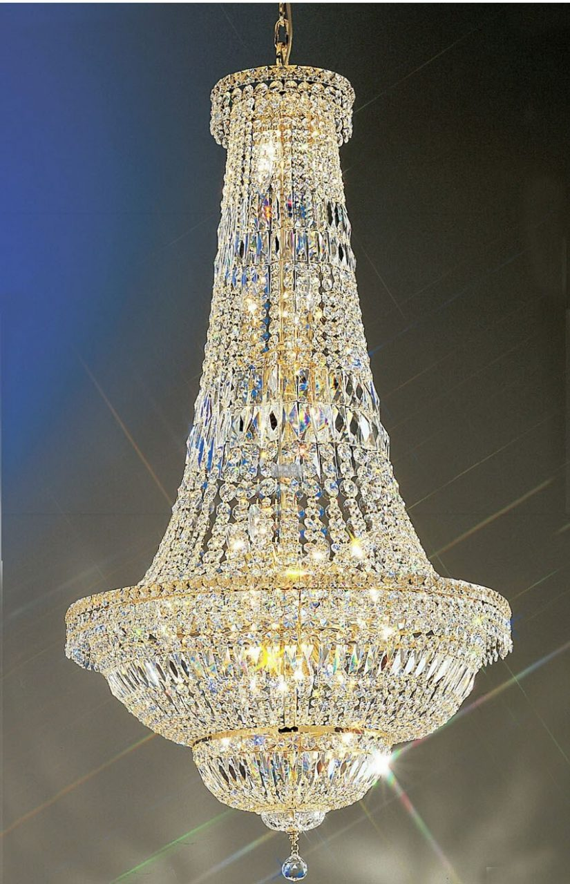 Phube Lighting Large Foyer Entryway Crystal Chandelier French Empire
