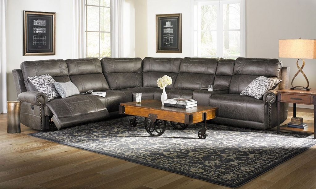 Pierson Power Reclining Storage Sectional With Usb Home Ideas