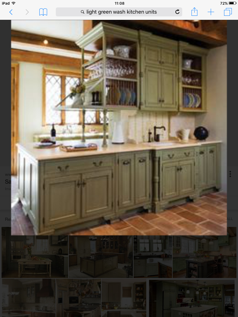 Pin Sue Pollard On Update Kitchen Green Kitchen Cabinets