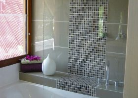 Glass Mosaic Tile Bathroom Design Ideas