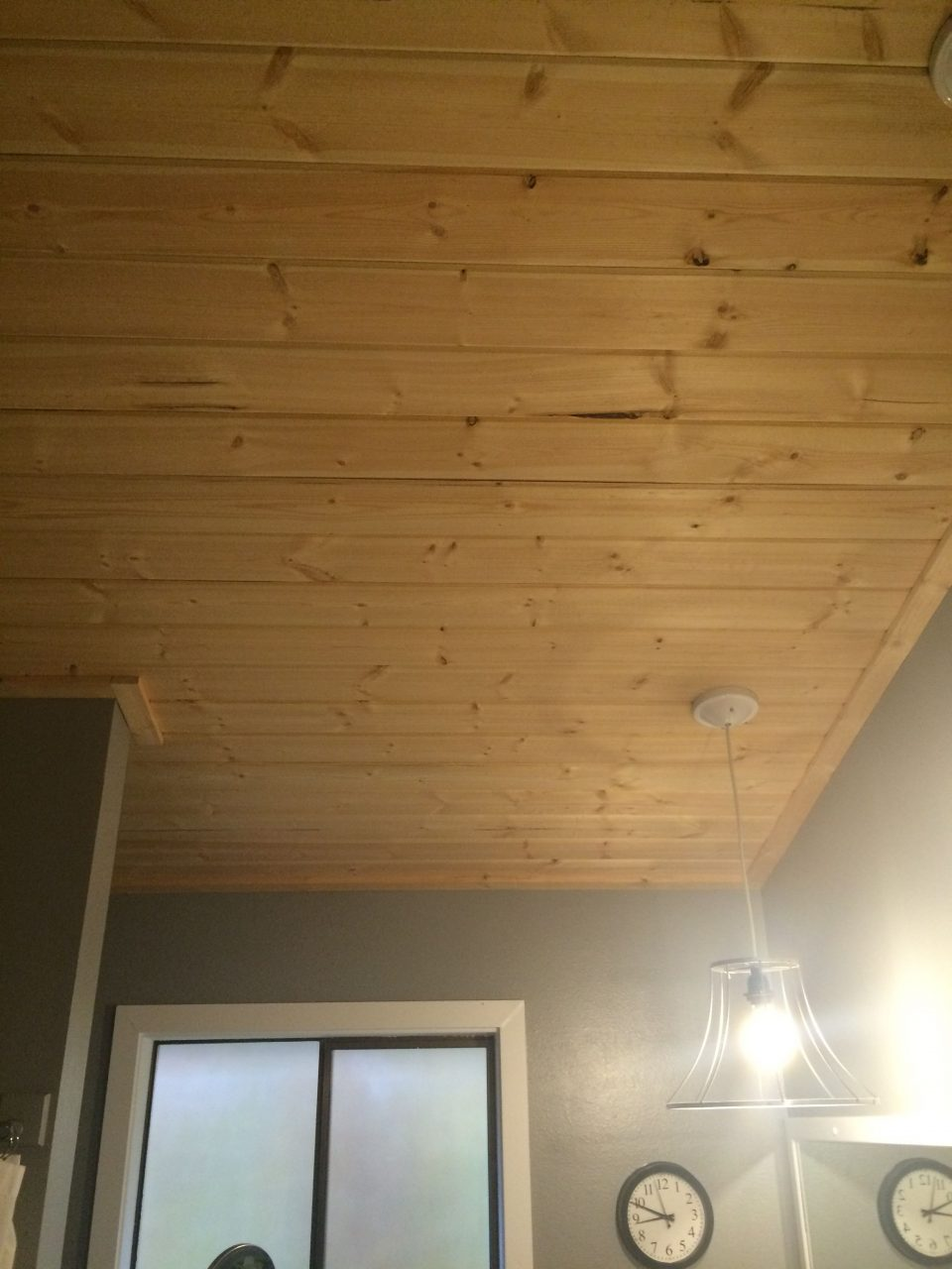 Pine Tongue And Groove On Bathroom Ceiling Britts Stuff In 2019