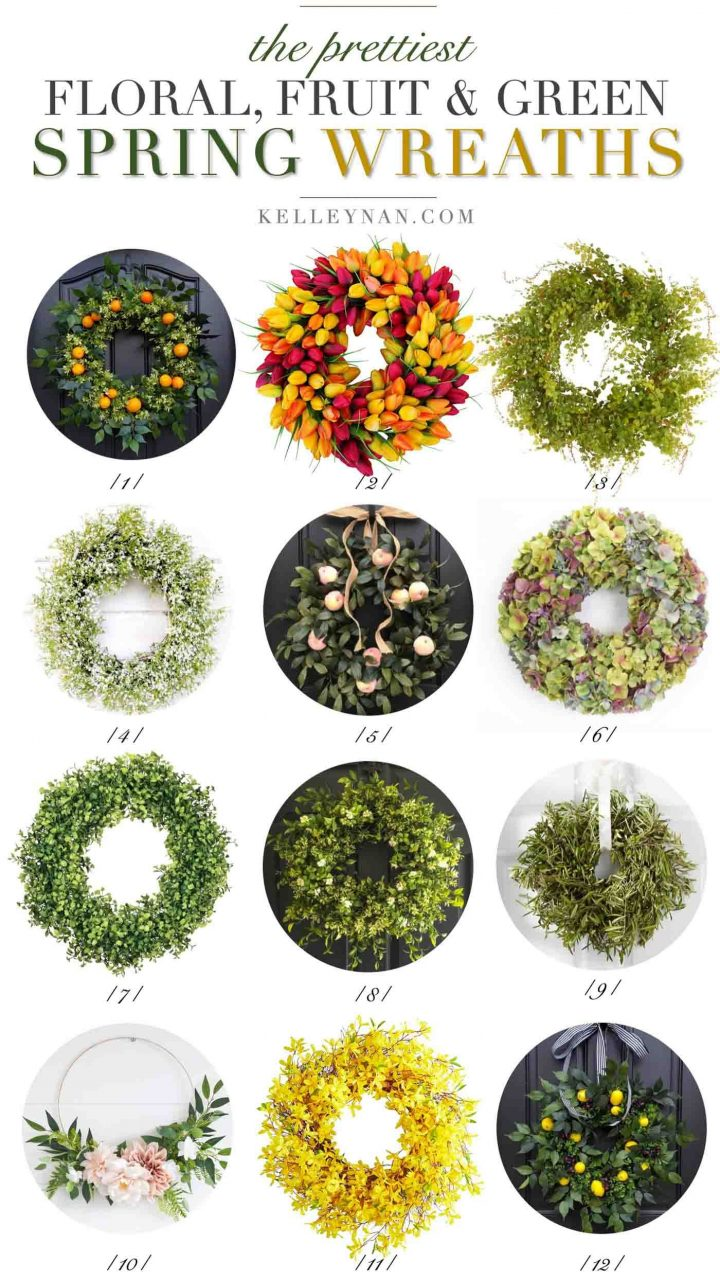 Pretty Spring Wreaths For Your Front Door Decor Springwreaths