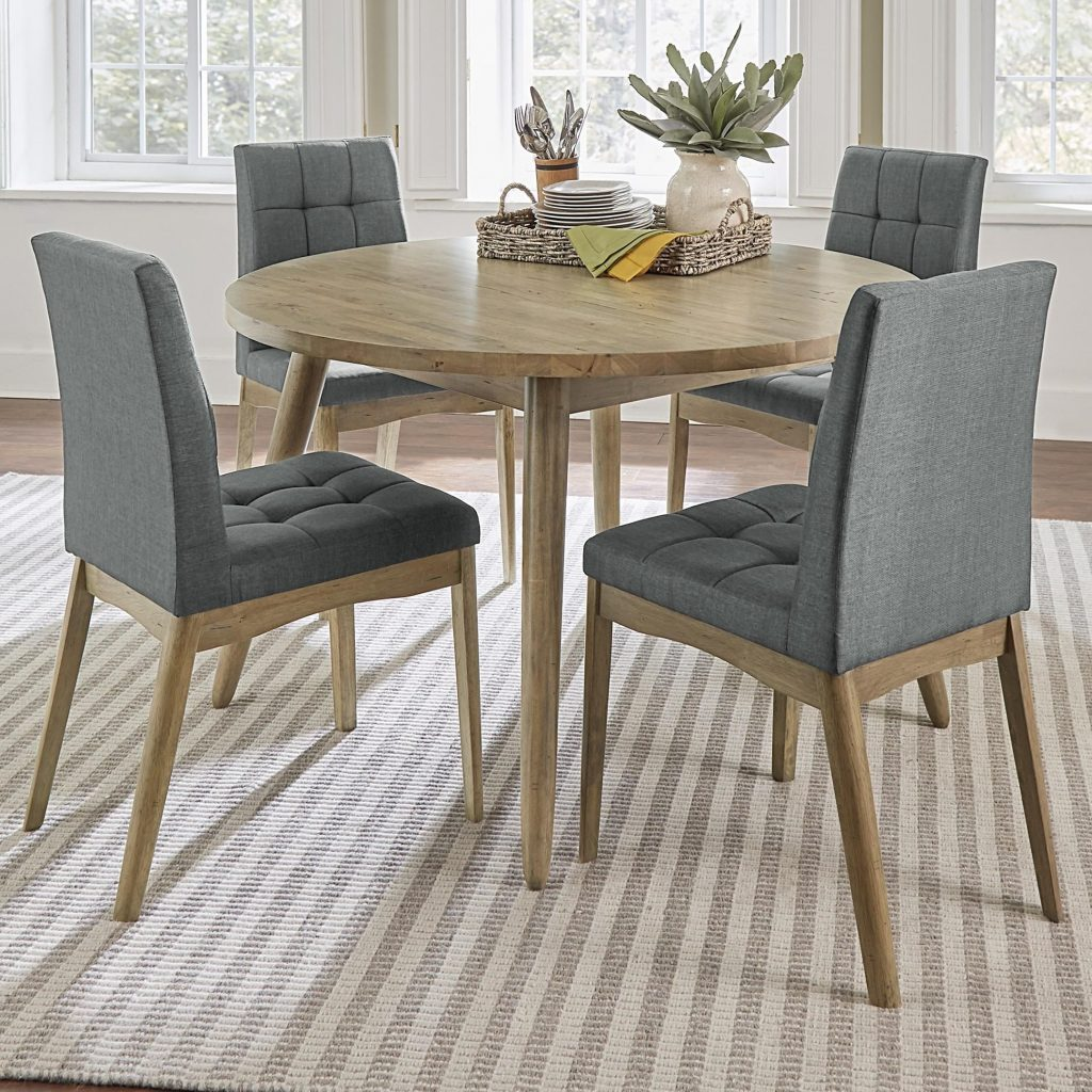 Progressive Furniture Barcelona 5 Piece Round Dining Table Set