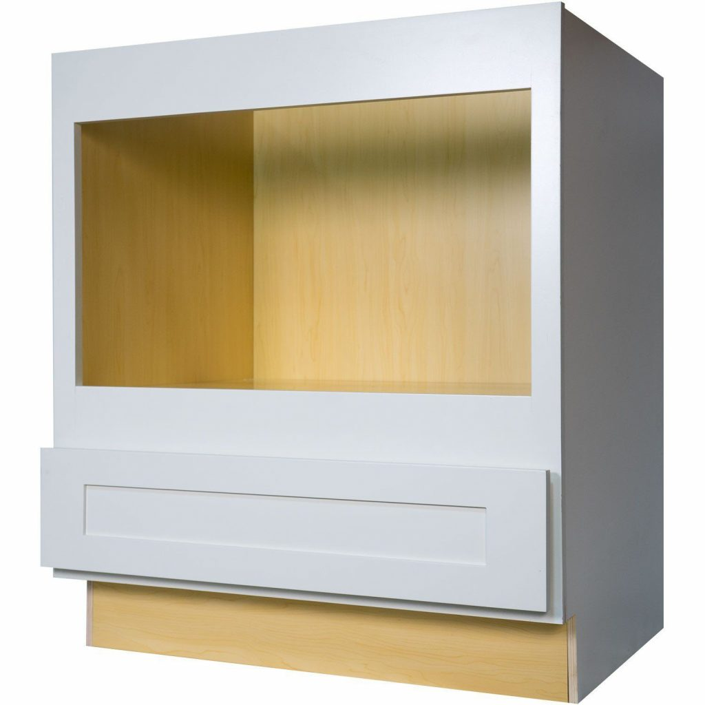 Pthe 30 Inch Microwave Base Cabinet In Gorgeous Shaker White