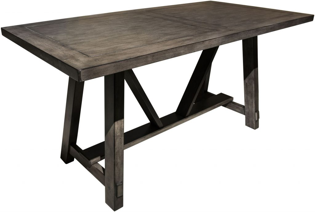 Pulaski Distressed Carbon Trestle Dining Table Distressed