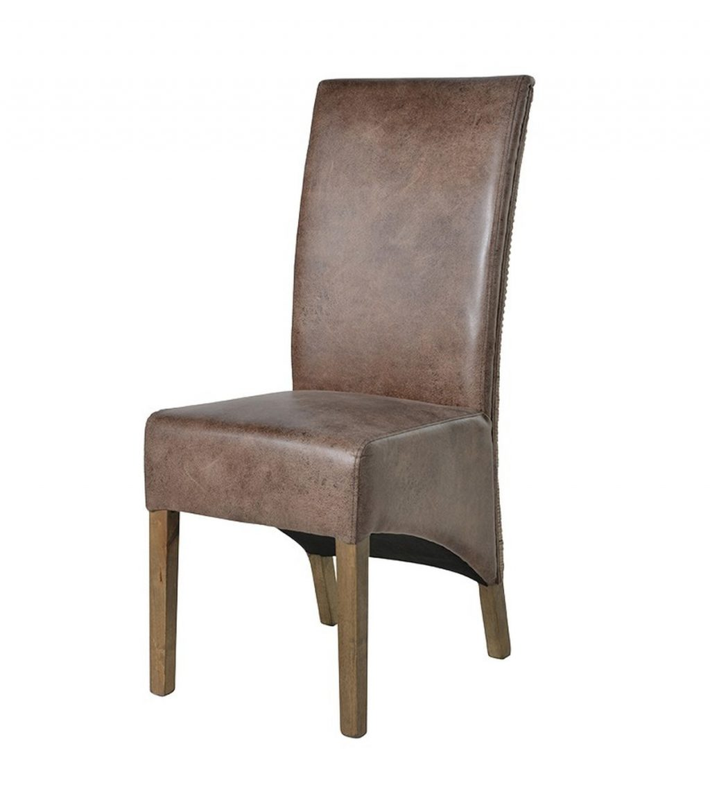 Rattanfaux Leather High Back Dining Chair