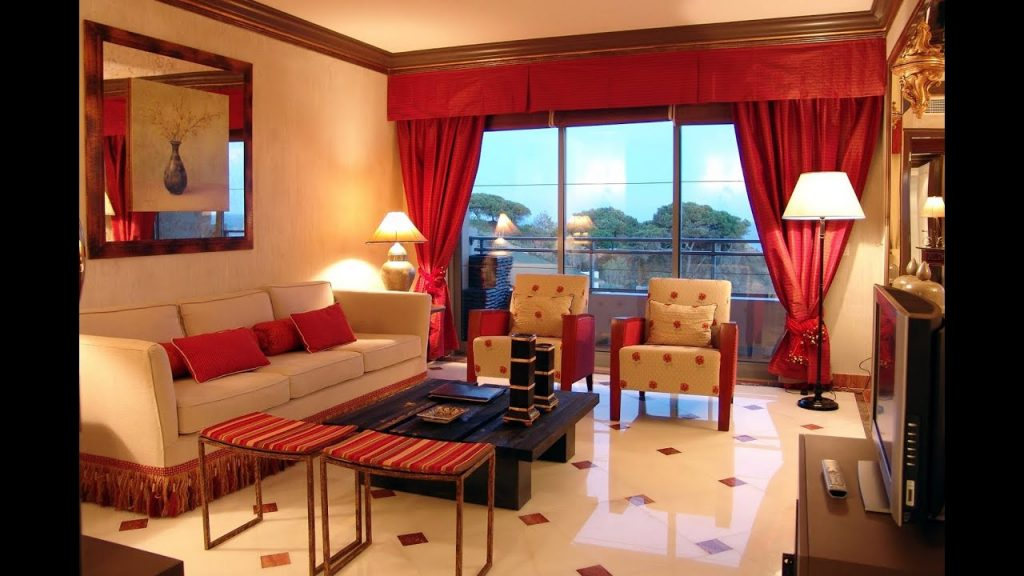 Red Living Rooms Wall Paint Colors Furniture Ideas Youtube