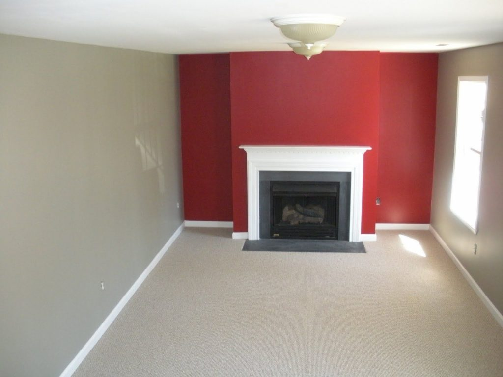Red Wall As Accent In Grey Room Accent Walls Decorating Ideas Red