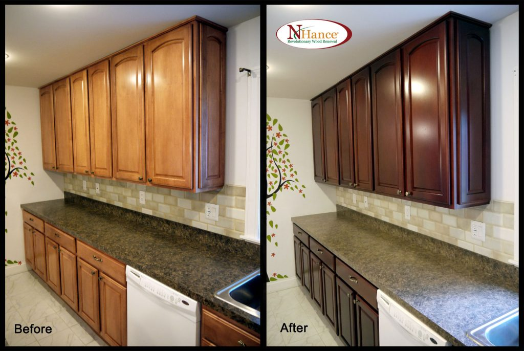 Restaining Kitchen Cabinets Lighter How Restai 7052
