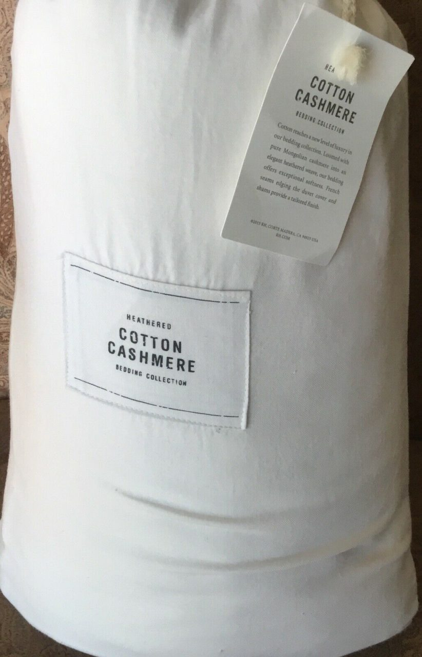 Restoration Hardware Heathered Cotton Cashmere Sheet Set King