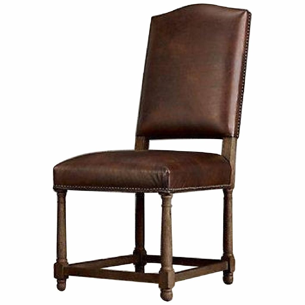 Restoration Hardware Leather Dining Chairs Aptdeco