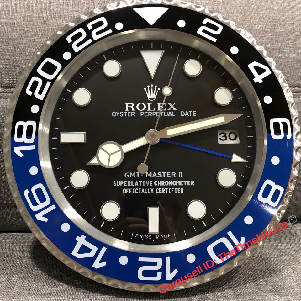 Rolex Gmt Master Batman Wall Clock Mens Fashion Watches On Carousell
