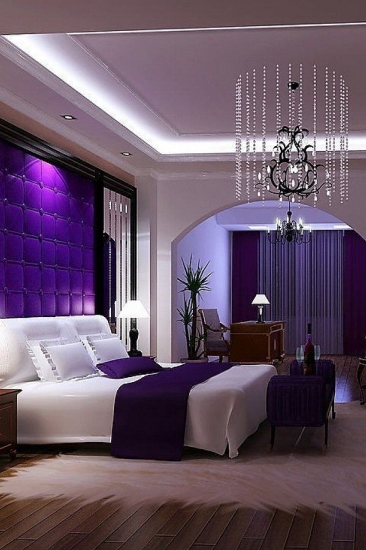 Romantic Bedroom Decorating Ideas Purple Master Bedroom Sleeping
