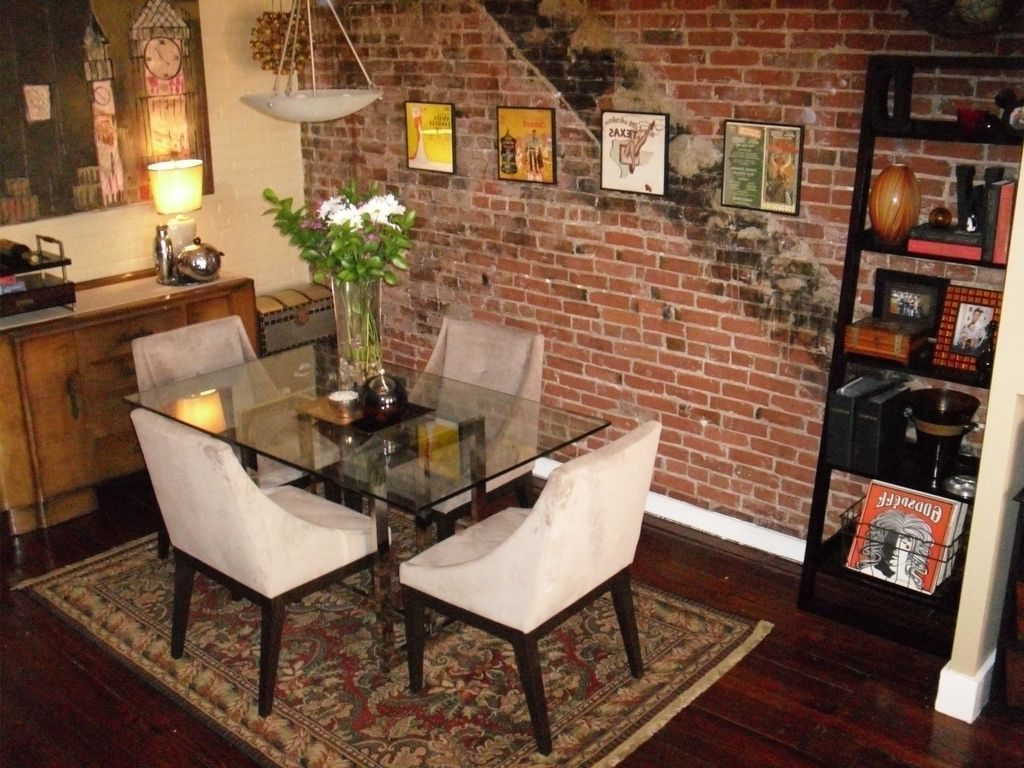 Rooms With Red Brick Walls Classic Dining Room With Brick Wall