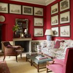 Red Wall Living Room Design Ideas