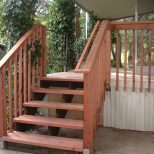 Rustic Deck Stairs Railing Railing Stairs And Kitchen Design