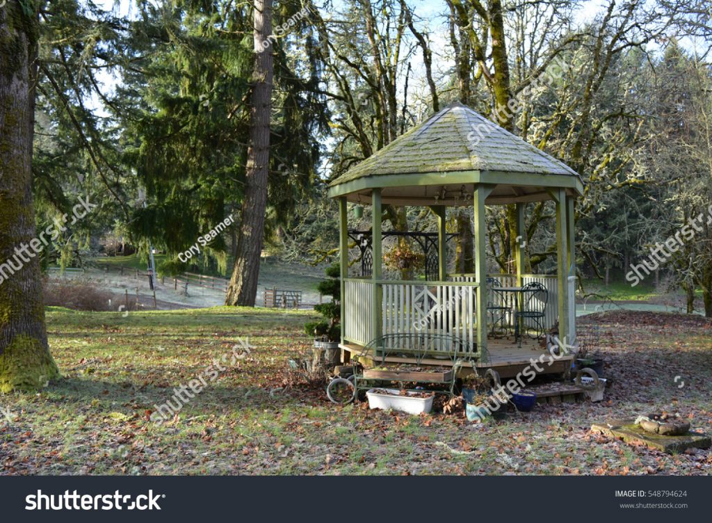 Rustic Gazebo Stock Photo Edit Now 548794624 Shutterstock