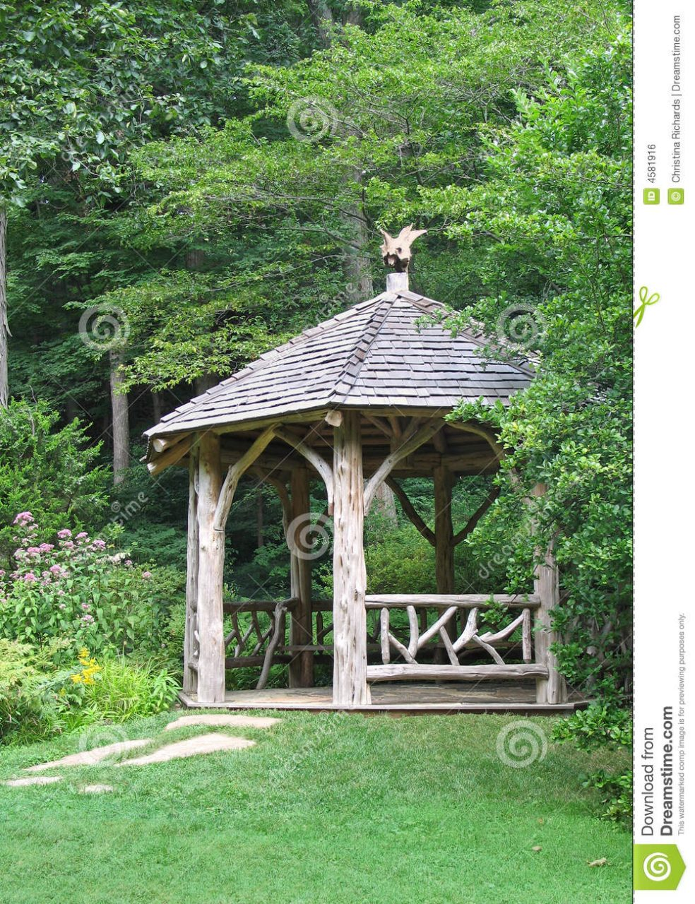 Rustic Gazebo Stock Photo Image Of Nature Garden Peaceful 4581916
