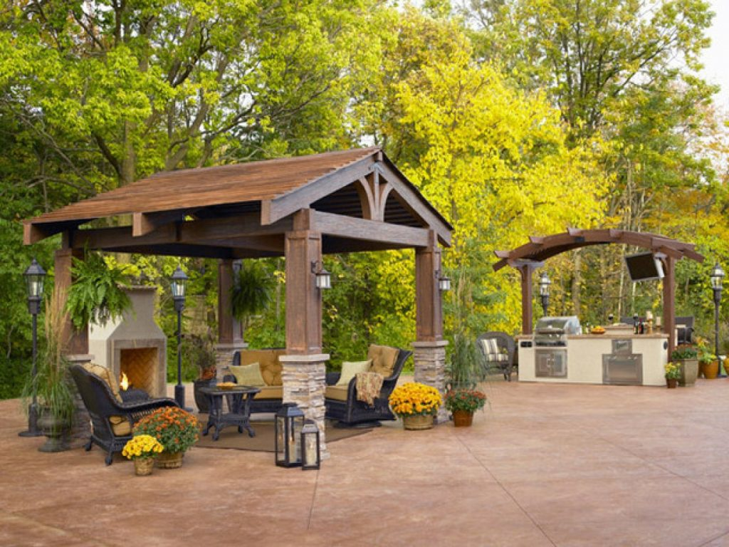 Rustic Gazebos And Pergolas Rustic Pergola Design And Ideas