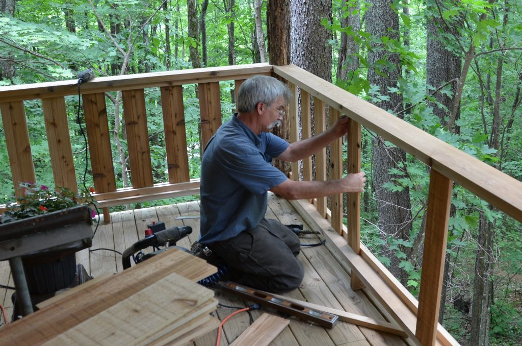 Rustic Rail Designs For Porches Rustic Porch Railing Renovation