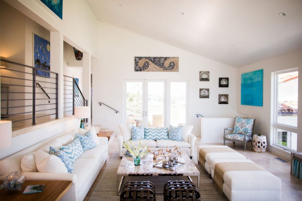 Santa Barbara California Driftwood Beach House Living Room Beach