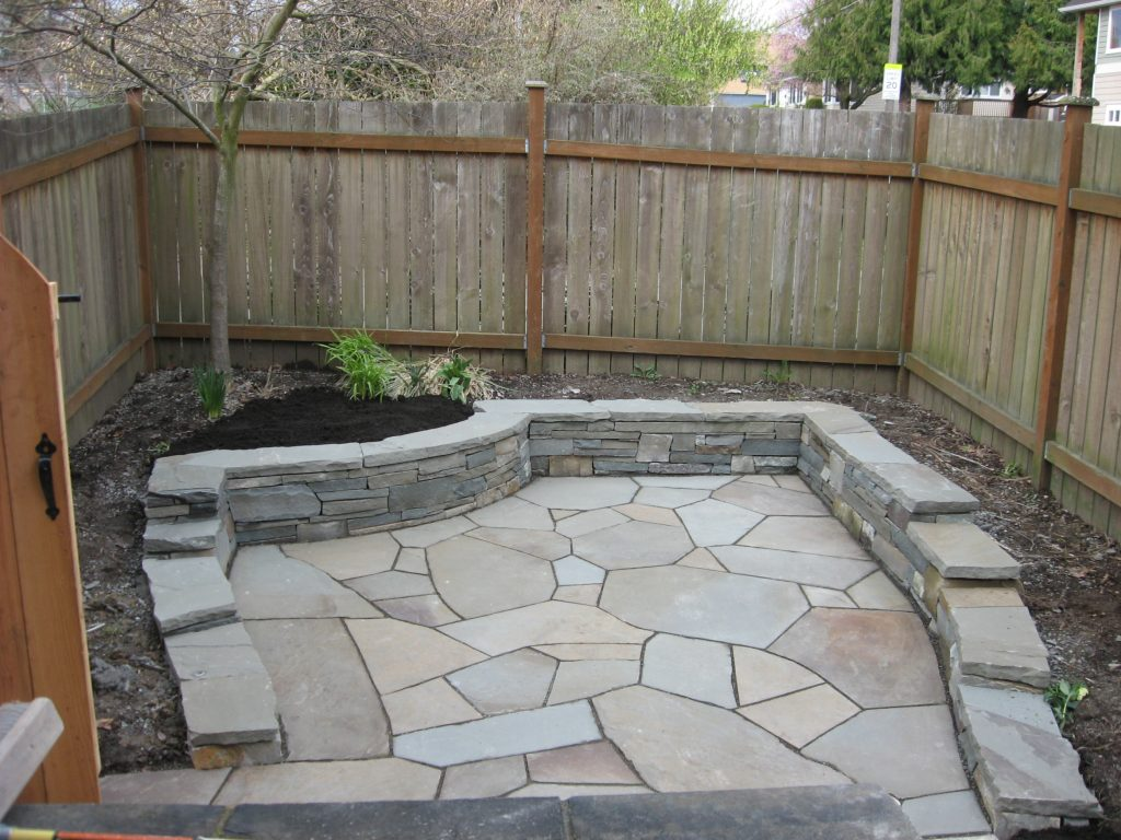 Seattle Stone Patio Before And After Installation Shepherd