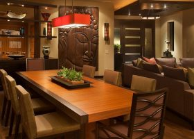 Asian Contemporary Dining Room