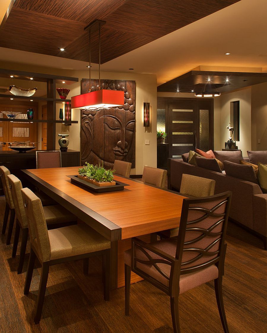 Serene And Practical 40 Asian Style Dining Rooms Architecture