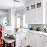 Floor to Ceiling Shaker White Kitchen Cabinets