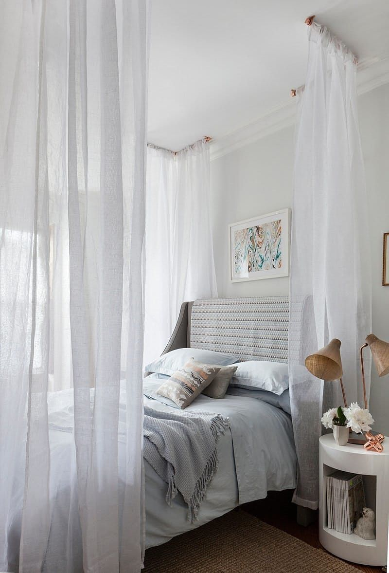 Sheer Curtain Bed Canopy Home Decor Bed Curtains Home Bedroom