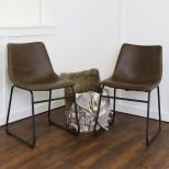 Shop 18 Inch Brown Faux Leather Dining Chairs Set Of 2 Free