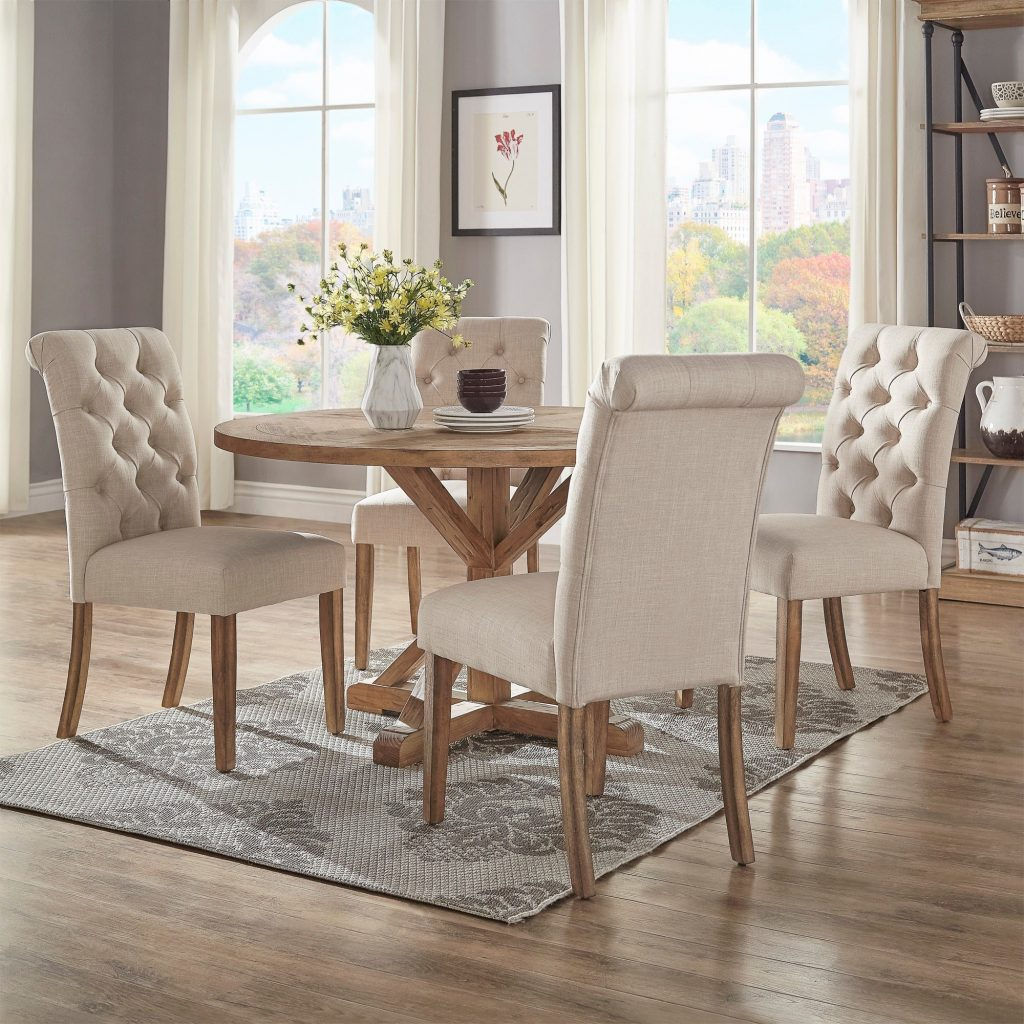 Shop Benchwright Rustic X Base 48 Inch Round Dining Table Set