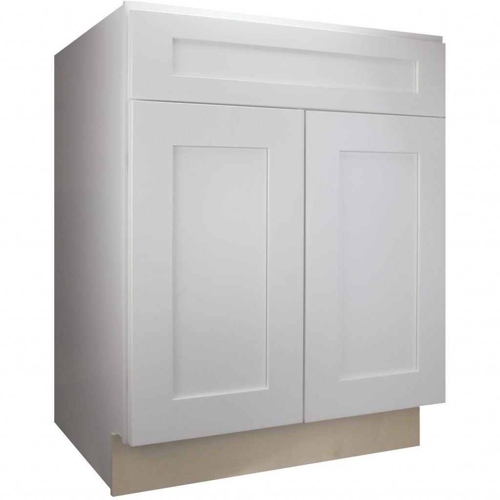 Shop Cabinet Mania White Shaker Kitchen Cabinet Base 30 W X 345 H