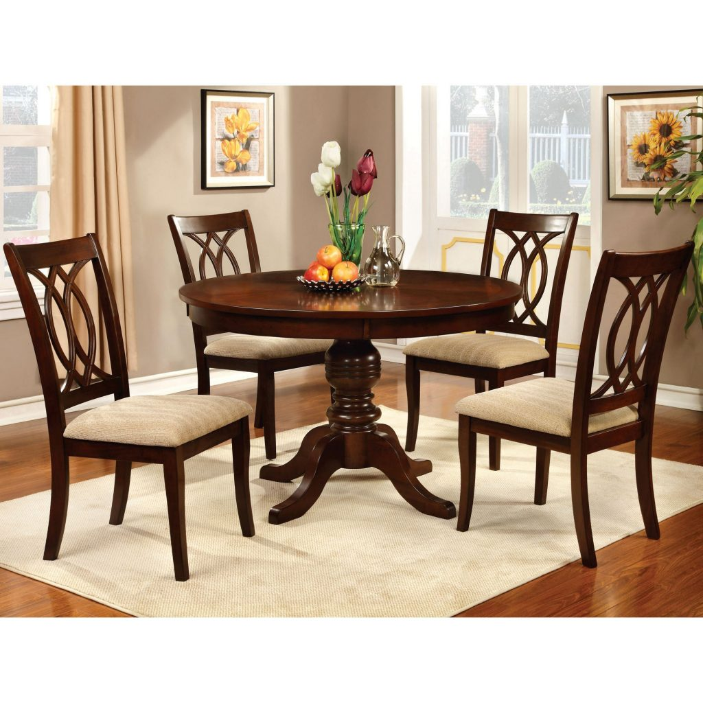 Shop Cerille 5 Piece Round Formal Dining Set Foa On Sale Free